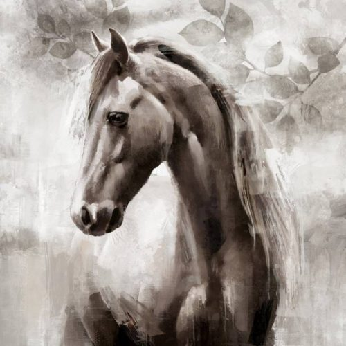 Standing Horse Framed Canvas Wall Art