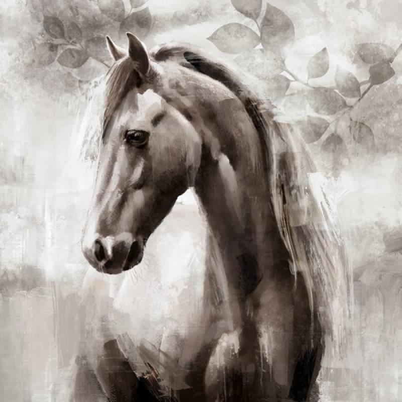 Standing Horse Framed Canvas Wall Art