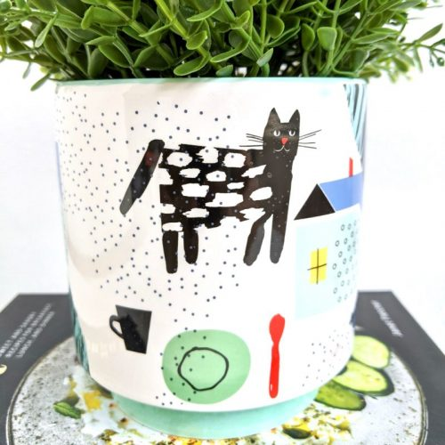 Colourful Abstract Pattern Ceramic Pot Planter