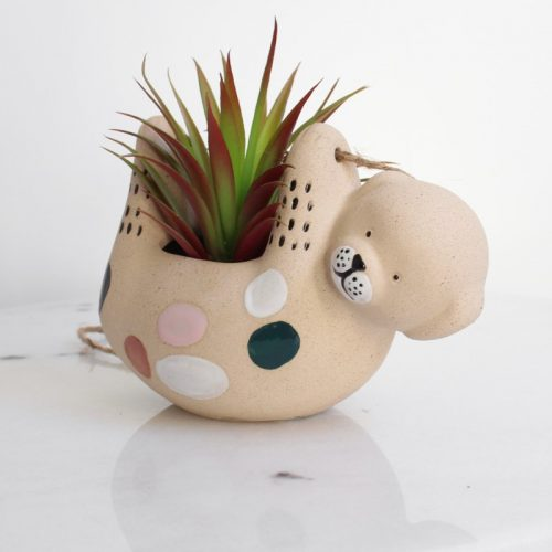 Hanging Puppy Dog Ceramic Pot Planter