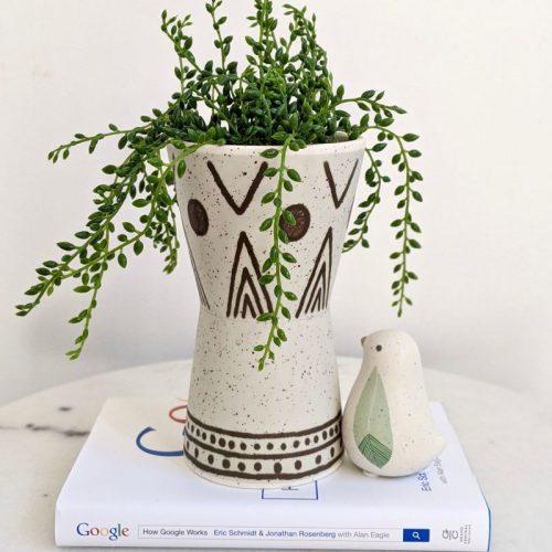 Tribal Aztec Ceramic Planter