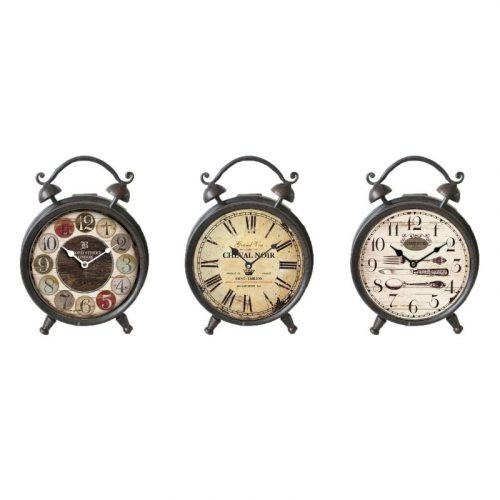 Vintage Style Iron Metal Table Desk Clock