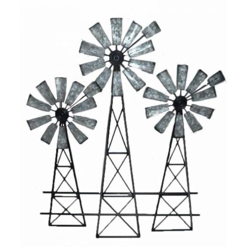 Windmill Trio Metal Wall Art
