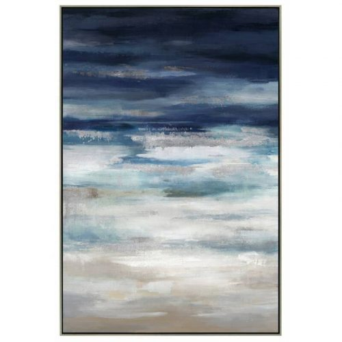Abstract Blue Sky Framed Canvas Print Wall Art