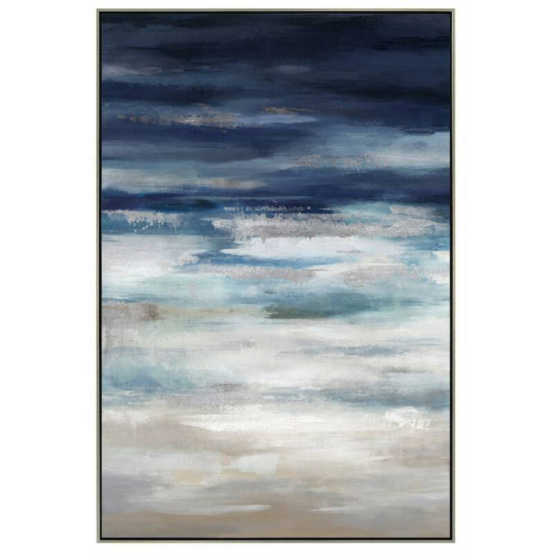 Abstract Blue Sky Framed Canvas Print Wall Art