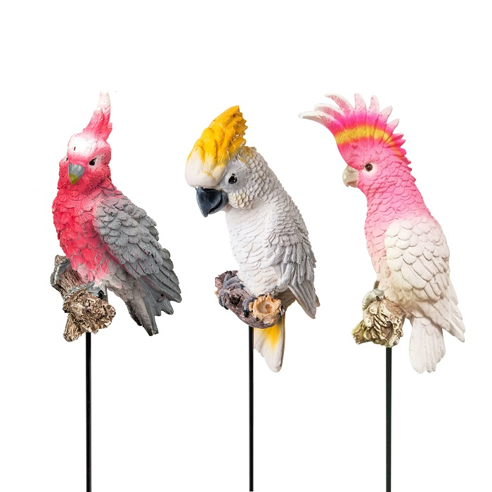 Aussie Cockatoo Galah Bird Pot Sitter - Set of 3