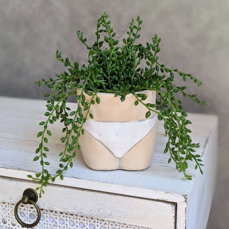 Bums Cement Pot Planter