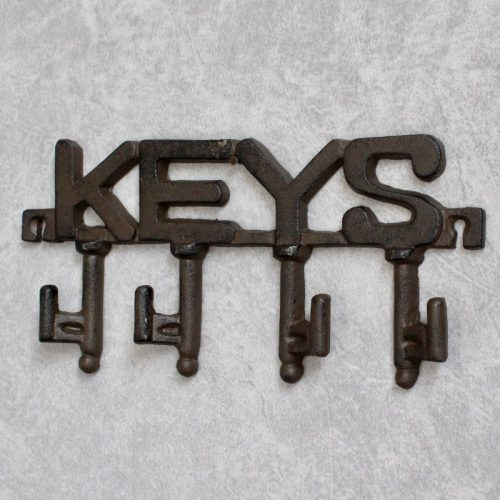 Cast Iron Key Rack Holder With 4 Hooks