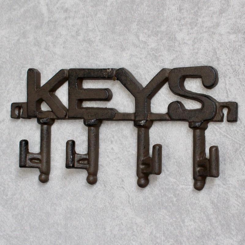 Cast Iron Key Rack Holder With 4 Hooks