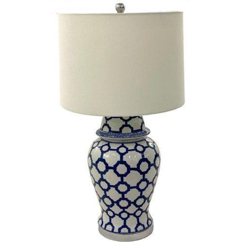 Coastal Blue Porcelain Table Lamp
