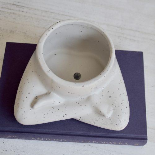 Sitting Yoga Lady Ceramic Pot Planter