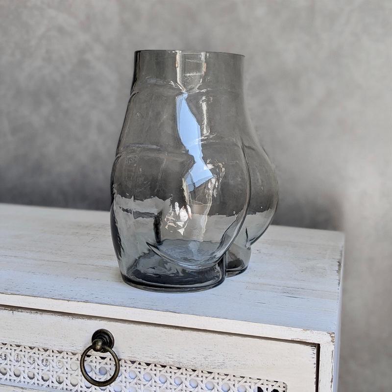 Glass Bum Vase