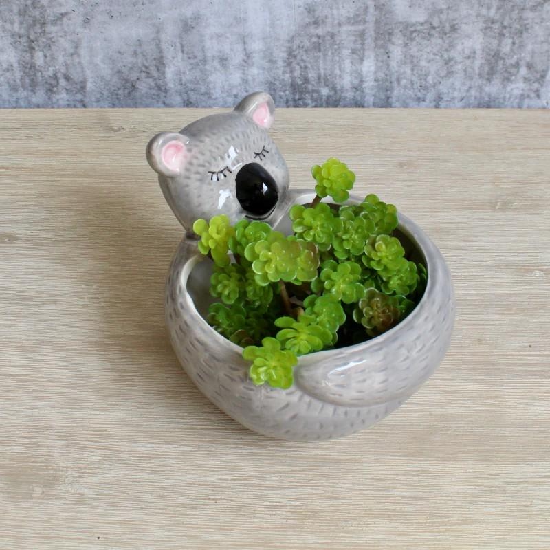 Grey Koala Ceramic Pot Planter