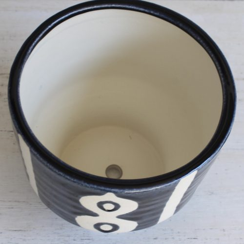Hamptons Navy White Pot Planter