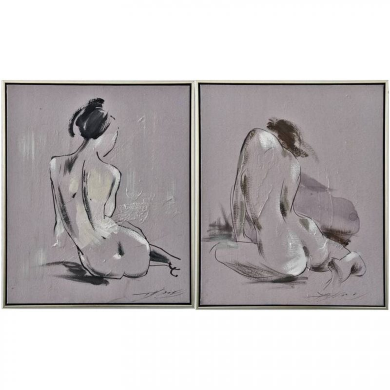 Lady Figure Framed Canvas Wall Art
