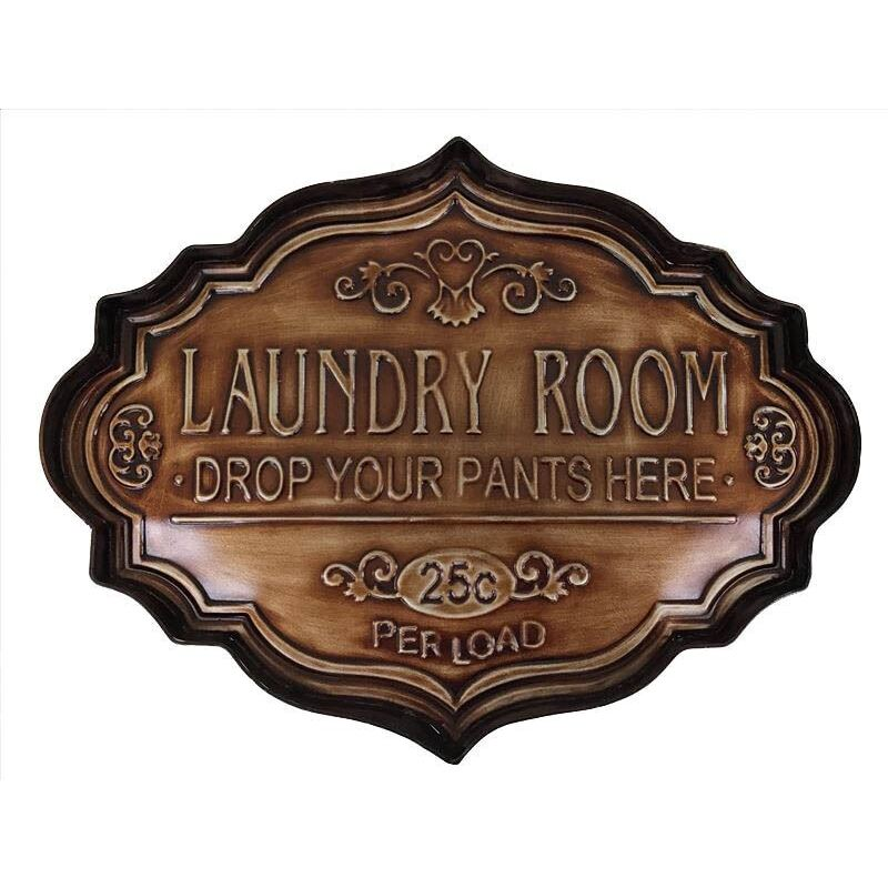 Laundry Room Sign Metal Wall Art