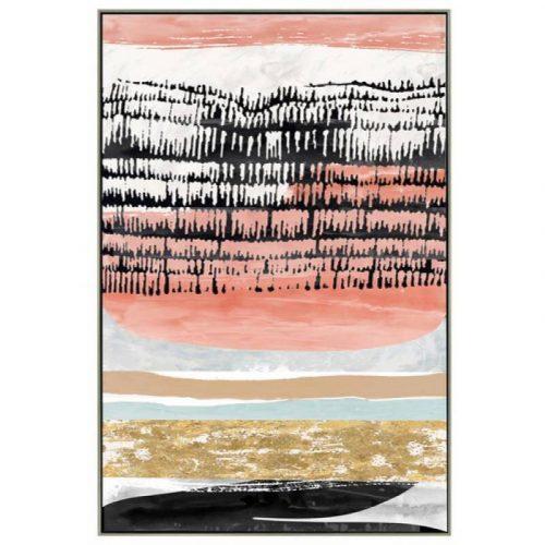 Modern Abstract Orange Framed Canvas Print Wall Art