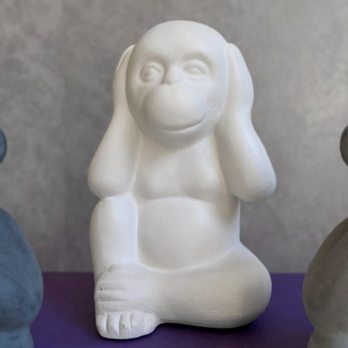 No Evil See Hear Speak Monkey Ceramic Sculpture