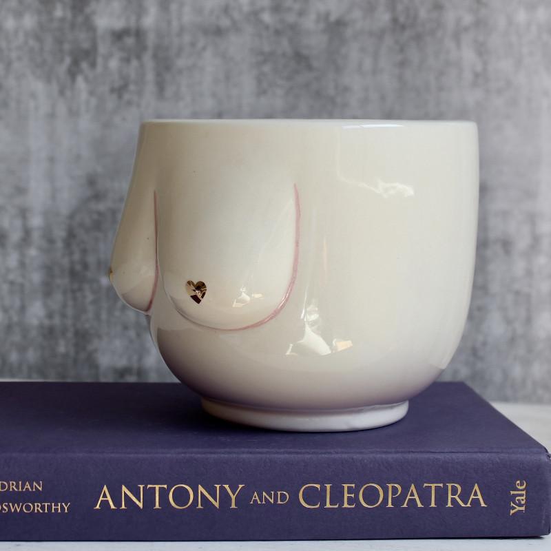 Nude Lady Ceramic Vase Planter