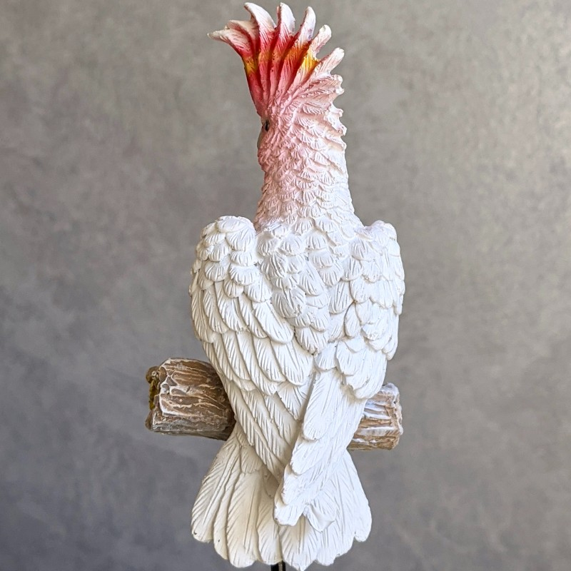 Pink Cockatoo Pot Sitter
