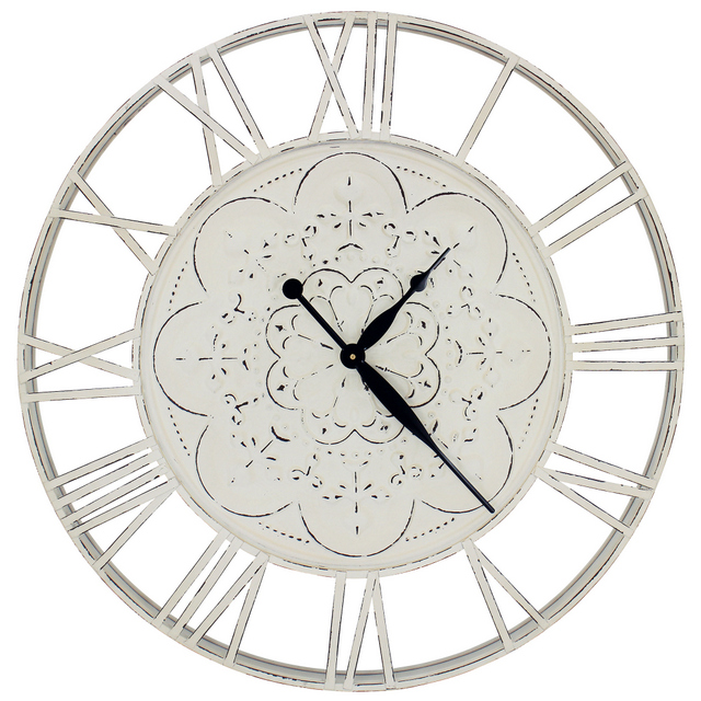 Pressed Metal Wall Clock