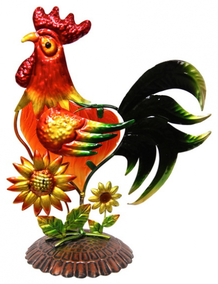 Rooster Metal Statue