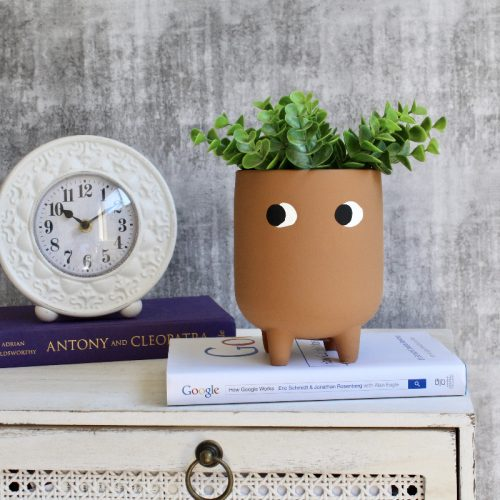 Terracotta Eye Footed Planter