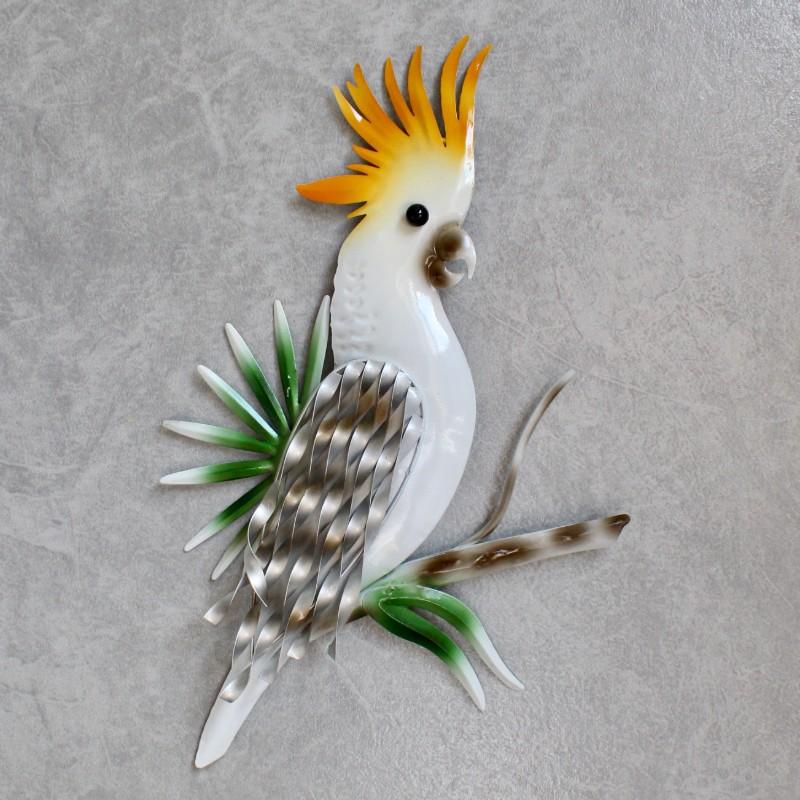White Cockatoo Metal Wall Art
