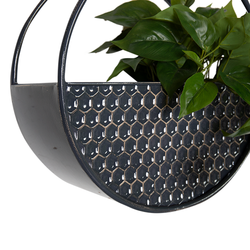 Round Metal Hanging Wall planters - Set of 3