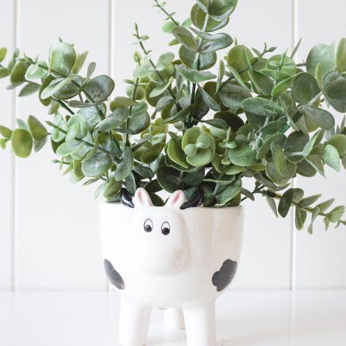 Bossy Cow Ceramic Pot Planter