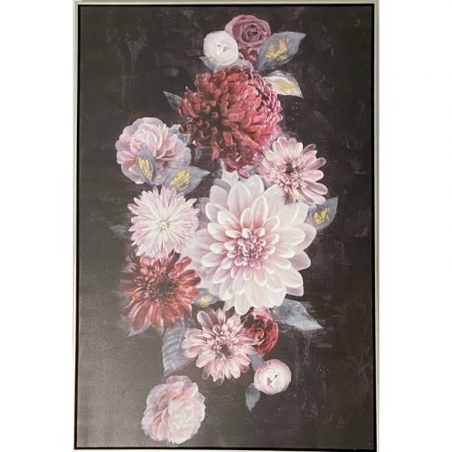 Bunch of Pink Flowers Framed Canvas