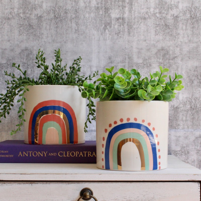 Golden Rainbow Ceramic Pot Planter