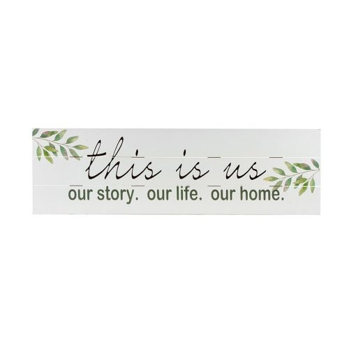 Our Story Farmhouse Sign Wood Panel Wall Art