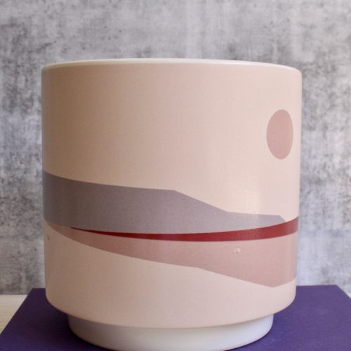Sunrise Pink Horizon Ceramic Pot Planter