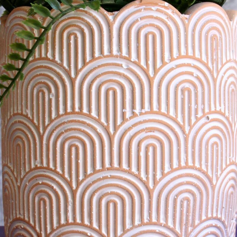 Terracotta Rainbow Arc Cement Planter Pot