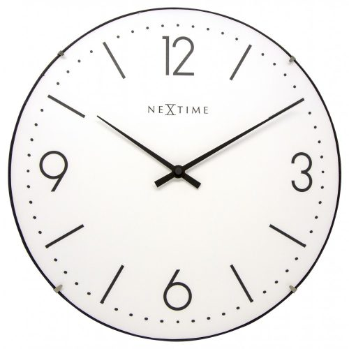 White Dome NeXtime Wall Clock