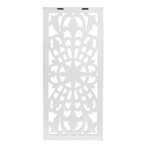 Hamptons Floral Mandala Rectangle Wooden Wall Art