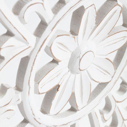 Hamptons Floral Mandala Rectangle Wooden Wall Art