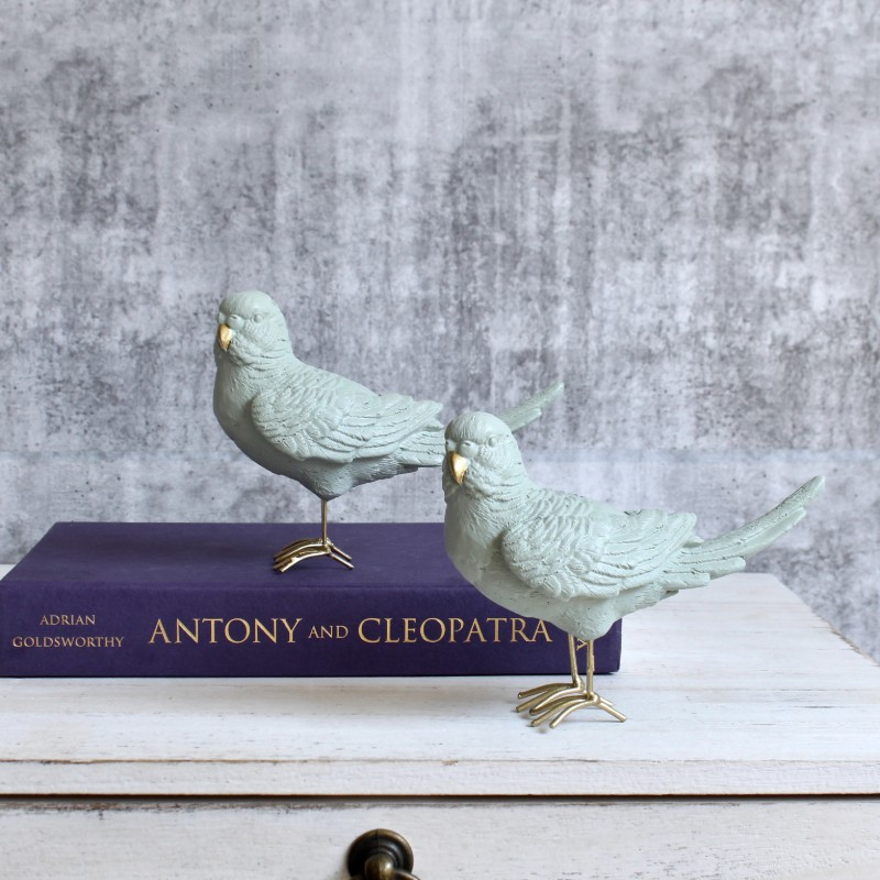 Mint Grey Bird