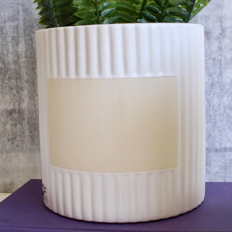 Chalkboard Herb Planter - Sage, White