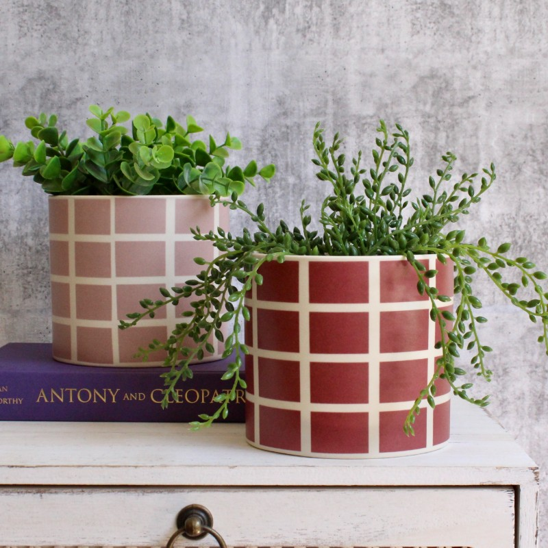 Check Ceramic Planters