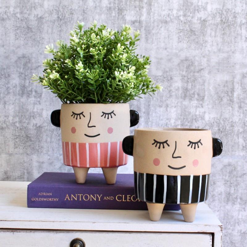 Naughty Sleepy Boys Planter Pot