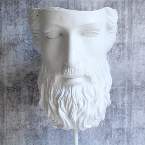 White Plato Decor Sculpture Statue