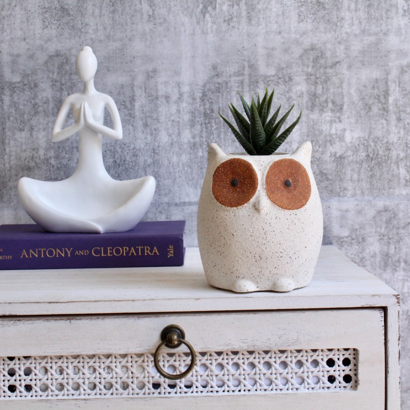 Sandy Owl Planter Pot