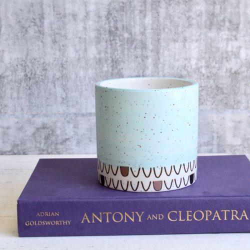 Pastel Aztec Tribal Ceramic Planter Pot - Set of 4