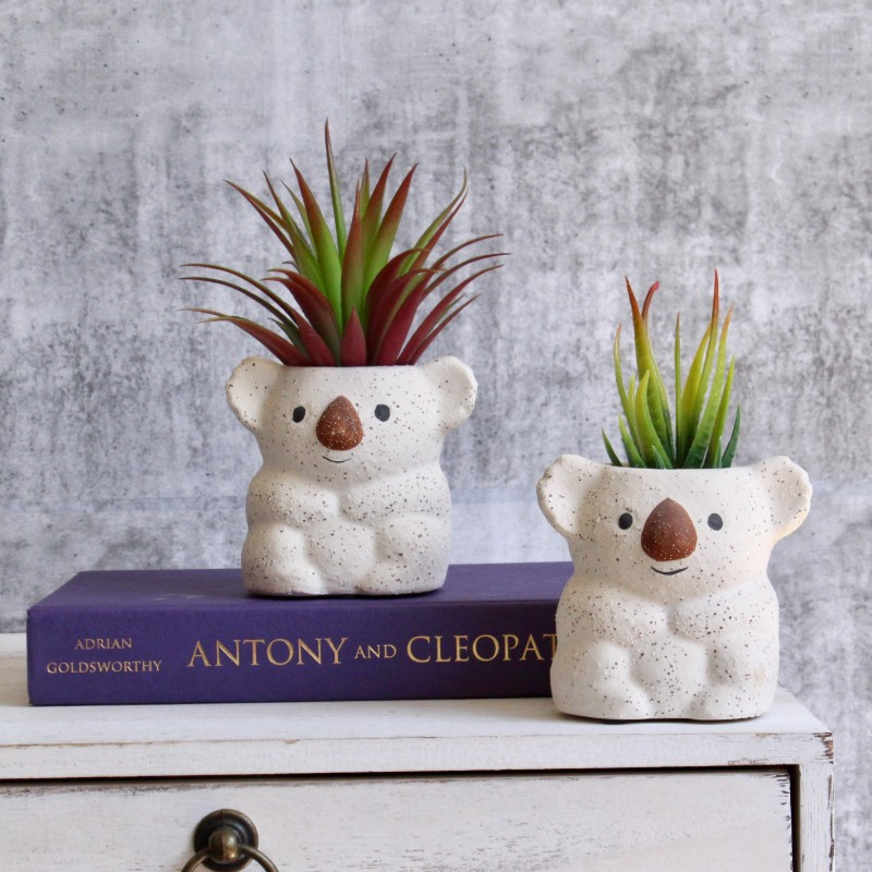 Small Koala Planter Set