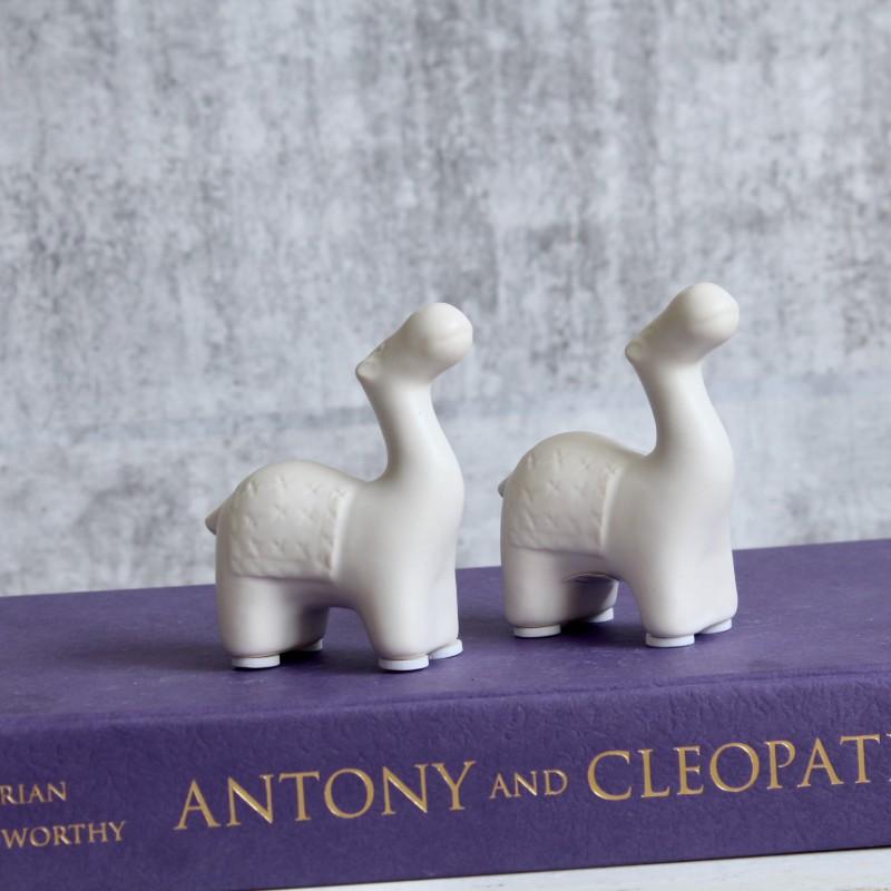 Small White Camel Figurine - Set of 2