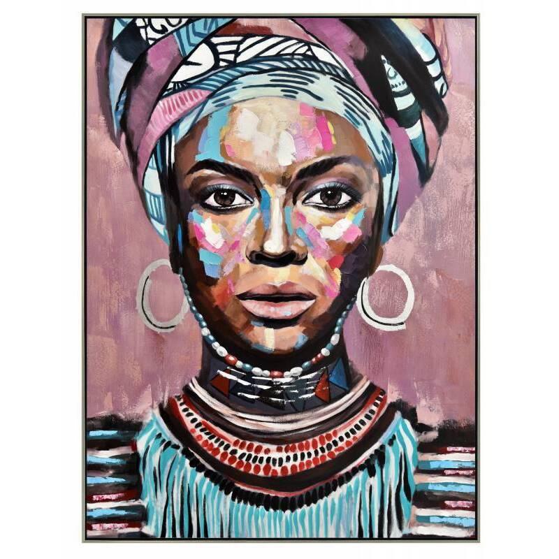 Abstract Girl Canvas