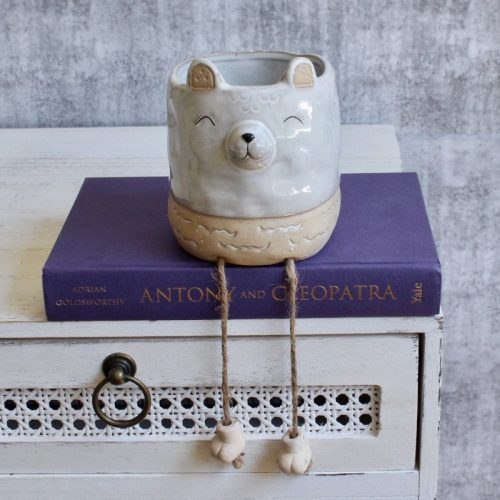 Bear Planter Pot With Hanging Legs