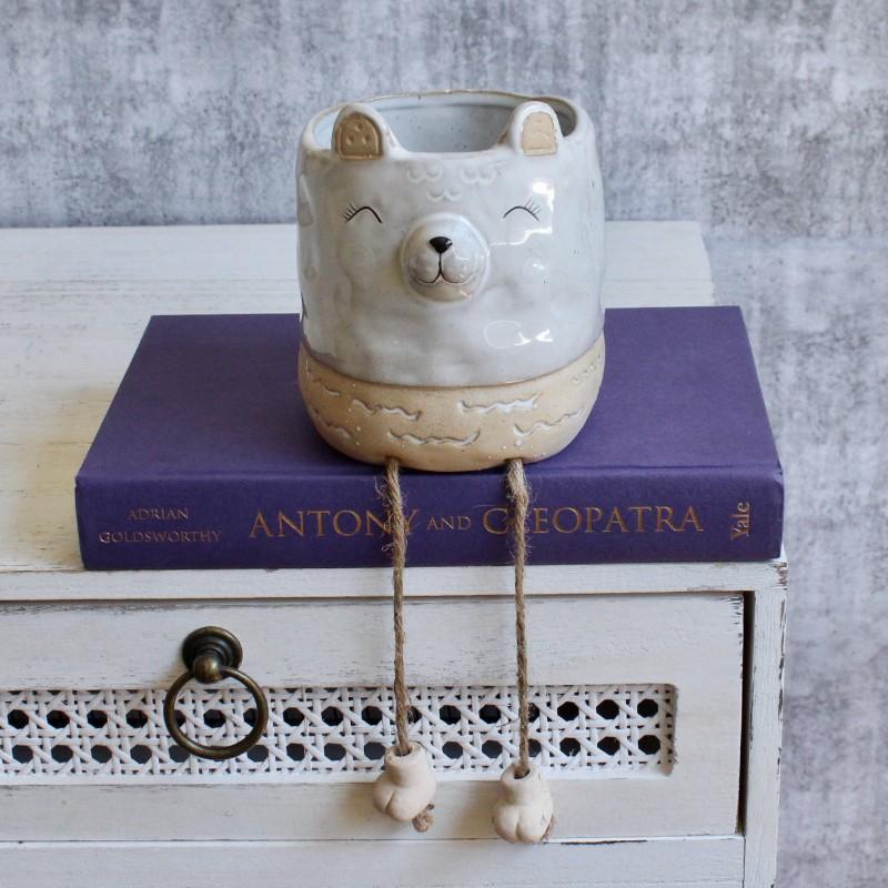 Bear Planter Pot With Hanging Legs